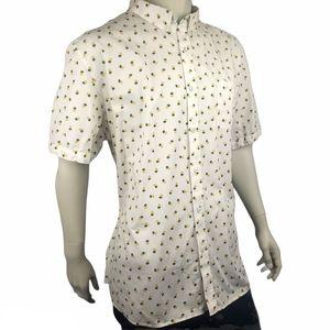 Johnston & Murphy Casual Pineapple Shirt Size 3XL